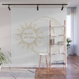 Moon of My Life. My Sun and Stars Gold Wall Mural