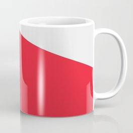 Flashlight, red & black, abstract graphic Coffee Mug