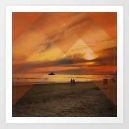 Translucent Sunset Art Print