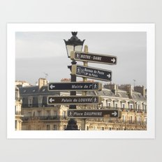Paris Adventure  Art Print