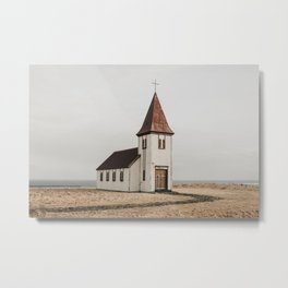 Hellnar Church, Iceland Metal Print