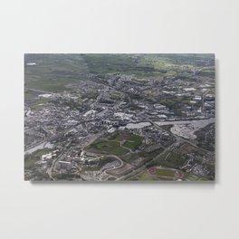 River Garvogue Sligo Town from the air Metal Print