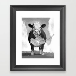 Welcome to the Pasture Framed Art Print