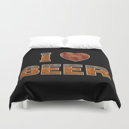 I Love Beer Duvet Cover