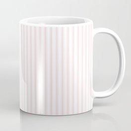 Light Millennial Pink Pastel Color Mattress Ticking Stripes Coffee Mug