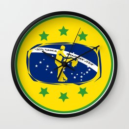 lets dance brazilian zouk flag design Wall Clock