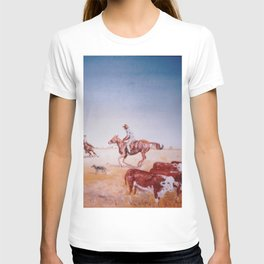 Rousting the Cattle, AUSTRALIA         by Kay Lipton T-shirt
