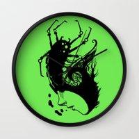 bug Wall Clocks featuring Bug by leonardoariza