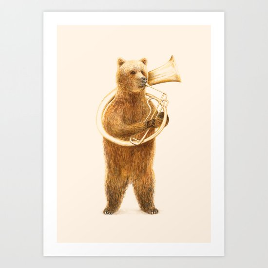 The Bear and his Helicon Art Print