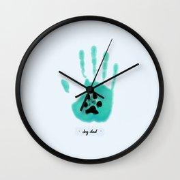 Dog Dad Wall Clock