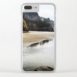 Hug Point Landscape On Oregon Coast Clear iPhone Case