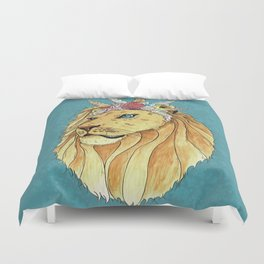 Poseidon, the Sealion Duvet Cover
