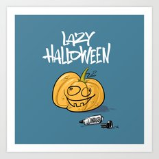 Lazy Halloween Art Print