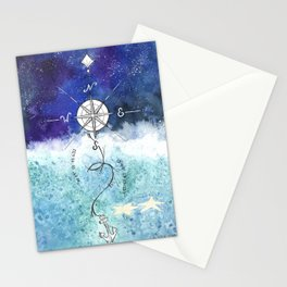 Anchor and the horizon Stationery Cards