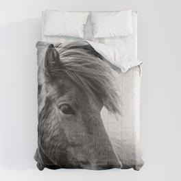 Horses - Black & White 6 Comforters