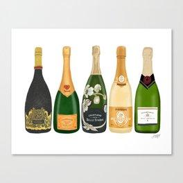Champagne Bottles Canvas Print