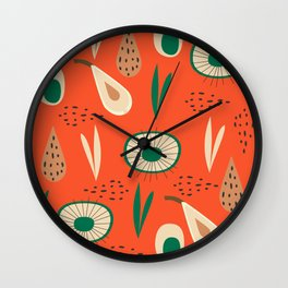 Abstract with pears Wall Clock