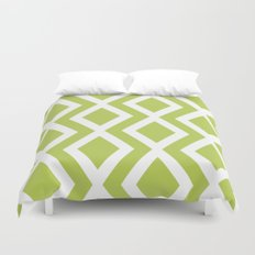 Lime Diamond Duvet Cover