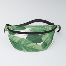 Tropical banana leaves IV Fanny Pack