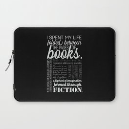 Folded Between the Pages of Books - Black Laptop Sleeve
