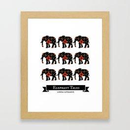 Elephant Tales Pattern Framed Art Print