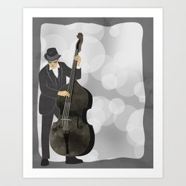 Double Bass Art Print