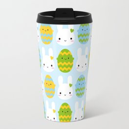 Kawaii Easter Bunny & Eggs Travel Mug
