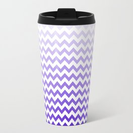 Purple/Blue Chevron Pattern! Travel Mug