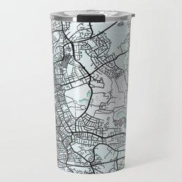 Blackpool, England, White, City, Map Travel Mug
