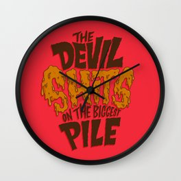 The Devil Shits... Wall Clock