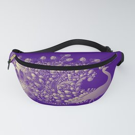 The Midnight Peacock Fanny Pack