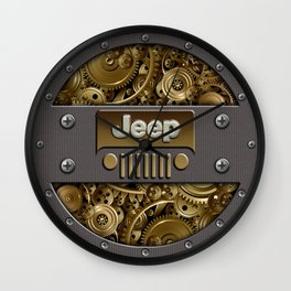 Steampunk Jeep with Gear machines iPhone 4 4s 5 5c 6, pillow case, mugs and tshirt Wall Clock
