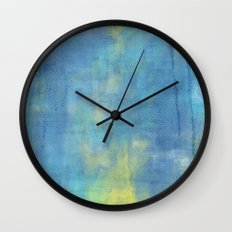 BLUE PAINT Wall Clock
