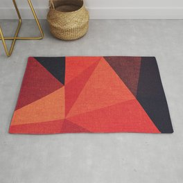 Abstract geometric patter.Triangle background Rug