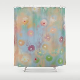 Pastel Daisies Shower Curtain