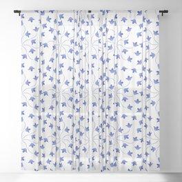 Blue flowers pattern of campanula Sheer Curtain