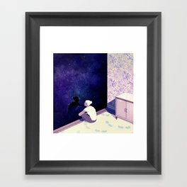 """""""Space"""" by Rebecca Mock for Nautilus Framed Art Print"""