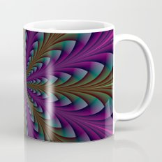 Spear Points in Purple and Green Mug