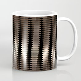 Spinning Columns - Bright Copper - Futuristic Industrial Sci-Fi Pattern Coffee Mug