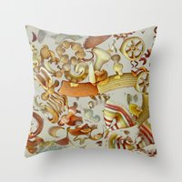 pasta Throw Pillows featuring Pasta Love by Bella Blue Photography