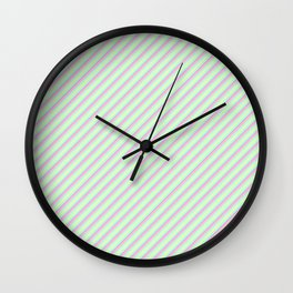 Pastel Tones Inclined Stripes Wall Clock