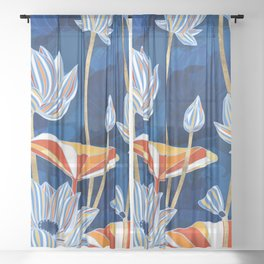 Bold Botanical Sheer Curtain
