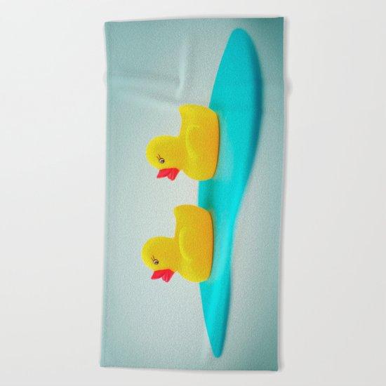 Rubber ducks Beach Towel