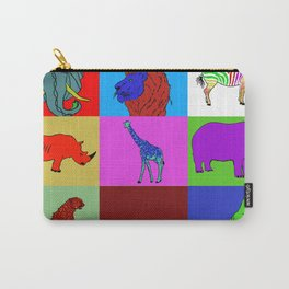 Pop Art African Animals Carry-All Pouch
