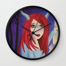 Satyr at midnight Wall Clock