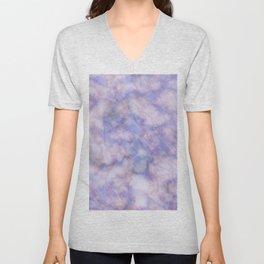 Modern lavender lilac rose gold marble Unisex V-Neck