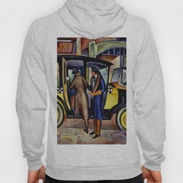 1924 American Masterpiece 'Taxicabs' by Fred Gardner Hoody