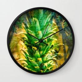Stand Tall, Green Pineapple Wall Clock