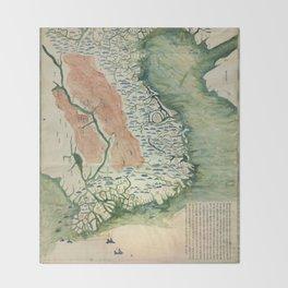 Yuenan Quan Jing Yu Tu (Map of Vietnam circa 1885) Throw Blanket