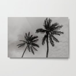 Moody Palm Trees Metal Print